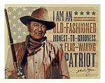 John Wayne - Flag Waving Patriot Metal Tin Sign