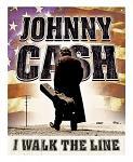 Johnny Cash I Walk The Line Tin Metal Sign