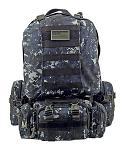 Large Tactical Assault Rucksack Backpack - Blue Digitial Camo