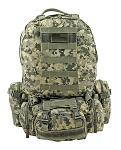 Large Tactical Assault Rucksack Backpack - Digital Camo