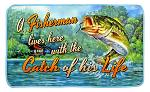 Fisherman Lives Here Welcome Door Mat