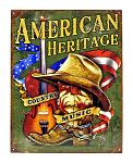 American Heritage Country Music Cowboy Hat Square Dancing Metal Tin Sign
