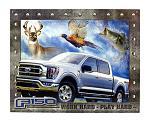 Ford Motor Company Modern F150 Work Hard Play Hard Pickup Truck Metal Tin Sign