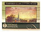 "16"" x 12"" Thomas Kinkade Tempered Glass Cutting Board - Sunrise Chapel"