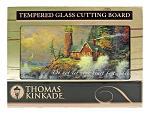 "16"" x 12"" Thomas Kinkade Tempered Glass Cutting Board - Courage"