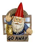 "9"" Grumpy Greeting Gnome Wall Mount"