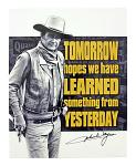 John Wayne Vintage Cowboy Famous Quote Tin Metal Sign