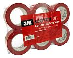 3M Scotch 311 Carton Sealing Tape - Red
