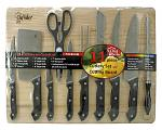 11 - pc. Chef Valley Cutlery Set with Cutting Board