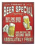 Today's Beer Special - Tin Sign