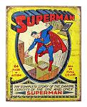 Superman Issue #1 Metal Tin Sign - Vintage Summer 1939 DC Comics Superman's First Appearance