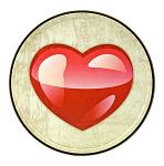 Heart Emoji - Round Tin Sign