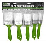 10 - pc. Paint Brush Set - Grip