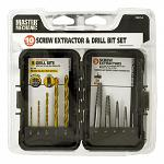 10 - pc. Screw Extractor and Drill Bit Set