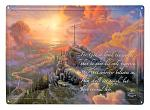 Thomas Kinkade Cross Tin Metal Sign