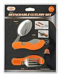 Sanitary Travel Foldable Detachable Cutlery and Utensil Set for Safely Dining Out