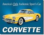 Chevy 58 Vette Tin Sign