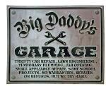 Big Daddy's Garage Tin Sign