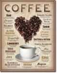 Coffee Heart Tin Sign