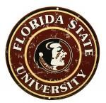 Florida State University Round Tin Sign