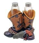Cowboy Boot Scootin' Spice Salt & Pepper Shakers