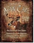 Man Cave Lodge - Tin Sign