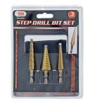 3-pc. Step Drill Bit Set