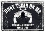 Don't Tread on Me Second Amendment Tin Sign