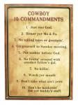 Cowboy 10 Commandments Tin Sign