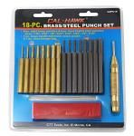 18-pc. Brass/Steel Punch Set