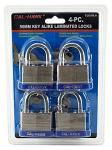 4-pc. 50mm Keyalike Laminated Padlocks