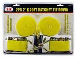 "2-pc.  20' x 2"" Ratchet Tie Down"