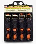 "4-pc. 15' x 1"" Ratcheting Tie Downs"