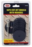 "10-pc. 1-1/2"" Cut-Off Wheels with Mandrel"