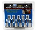 "12-pc. 3/8"" Drive Metric Hex Bit Socket Set"