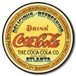 Coca-Cola Round Tin Sign