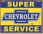 Chevrolet Super Service Tin Sign
