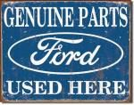 Ford Genuine Parts Used Here Tin Sign