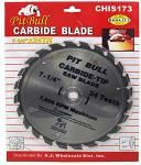 "7-1/4"" 24 Tooth Carbide Tipped Saw Blade"