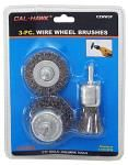3-pc. Wire Wheel Brushes