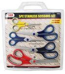 5-pc. Stainless Steel Scissors Set