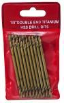 "10-pc. 1/8"" Double End Titanium HSS Drill Bits"