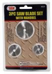 3-pc. Saw Blade Set with Mandrel