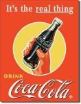 "Coca Cola ""Real Thing"" Tin Sign"