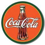 Coca-Cola 1930's Bottle Tin Sign