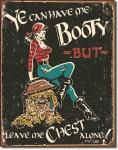 Pirate Booty Tin Sign