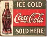 "Coca-Cola ""Ice Cold"" Tin Sign"