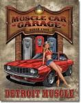 Muscle Car Garage Tin Sign