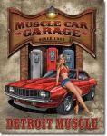 Muscle Car Garage Tin Sign
