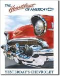 Chevy Heartbeat Tin Sign